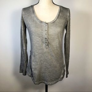Free People heather gray scoop neck top